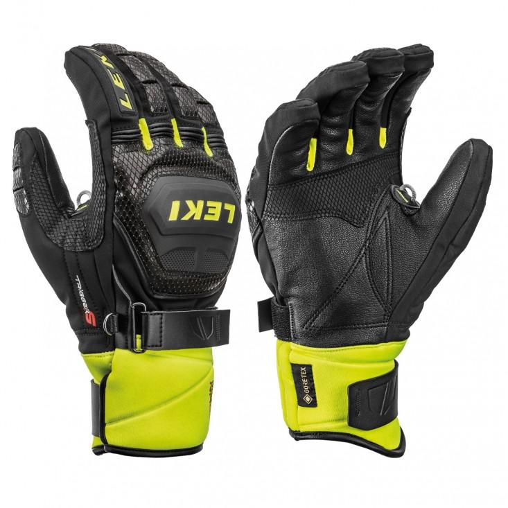 Leki HS Worldcup Race Coach Flex S GTX Black Yellow - guanti sci uomo   Mancini Store