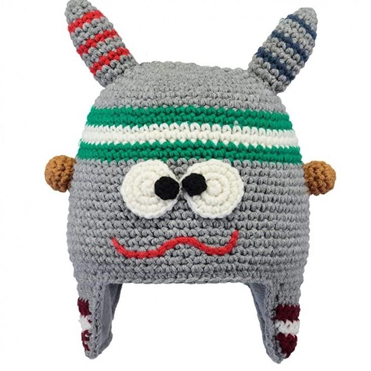 Monster Beanie Cappello Bambino Grey