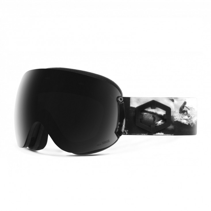 Open XL Tube Smoke Maschera Snowboard + Pesimmon Bonus Lens