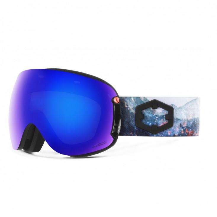 Open XL Spark Blue MCI Maschera Snowboard + Pesimmon Bonus Lens