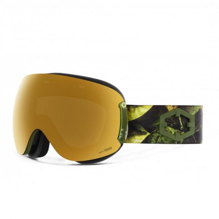 Open XL Evergreen Gold24 MCI Maschera Snowboard + Pesimmon Bonus Lens