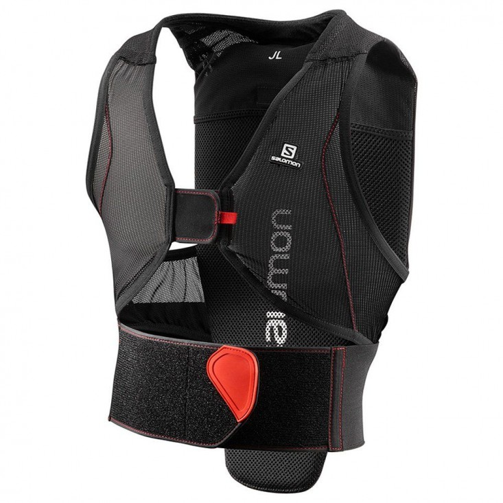 Salomon Flexcell Junior black red - protezione schiena sci bambini | Mancini Store