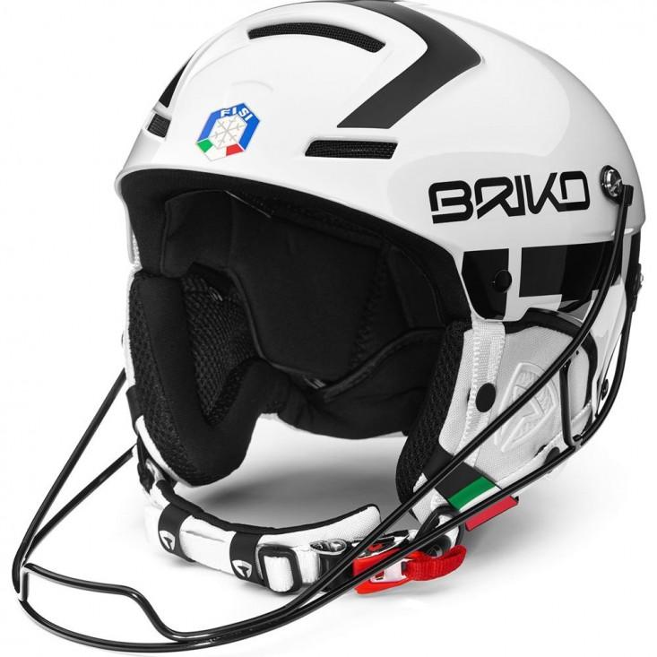 Slalom FISI White Black - casco sci uomo   Mancini Store