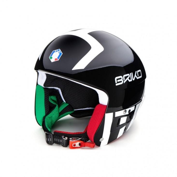 Briko Vulcano FIS 6.8 FISI Black White - casco sci gara uomo | Mancini Store