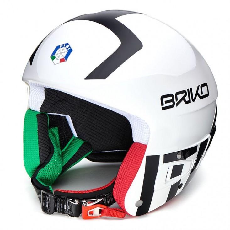 Briko Vulcano FIS 6.8 FISI White Black - casco sci gara uomo | Mancini Store