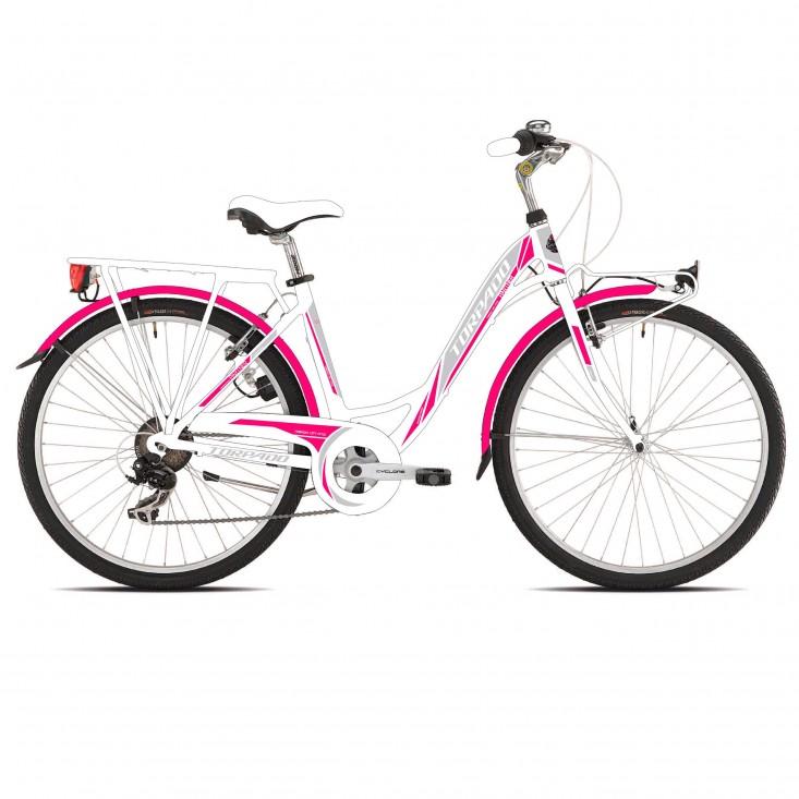 Torpado Partner T441 fucsia 6V - city bike donna | Mancini Store