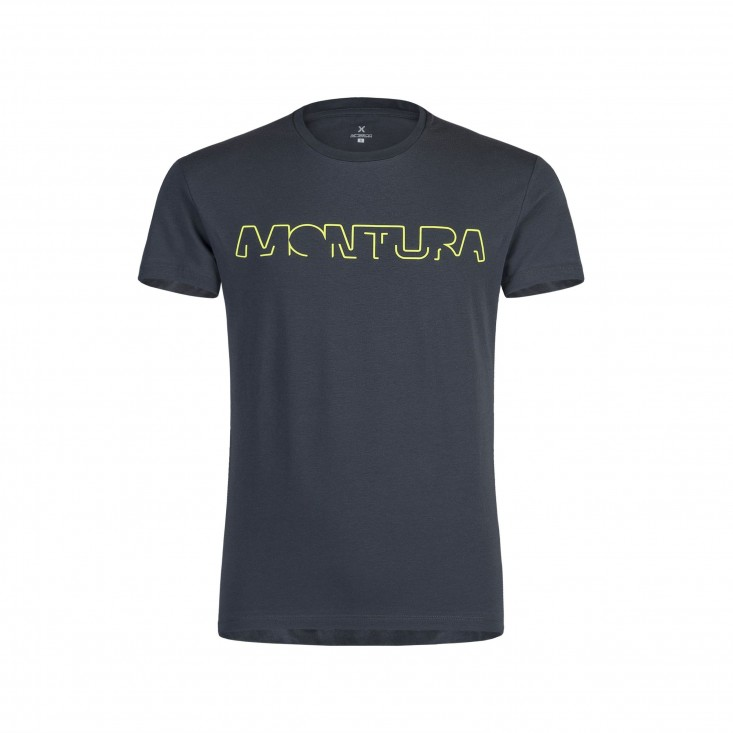 Brand T-Shirt Montagna Piombo Giallo Fluo Uomo 2020