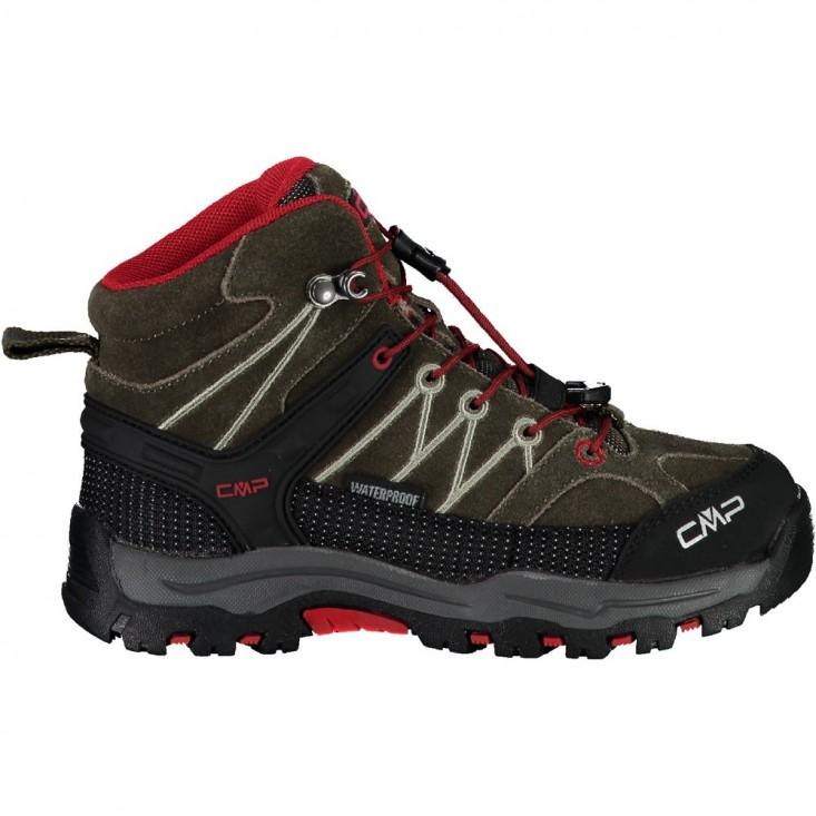 CMP Kids Rigel Mid - scarponcini trekking bambino 28-37 marrone - rosso | Mancini Store