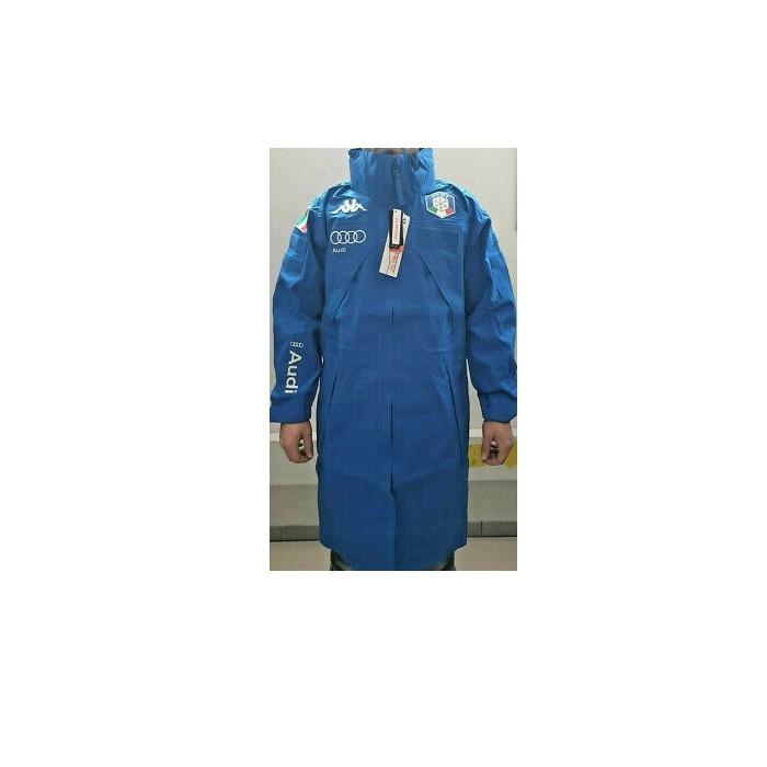 Kappa 6Cento 638B FISI - Mantella copripioggia azzurra | Mancini Store