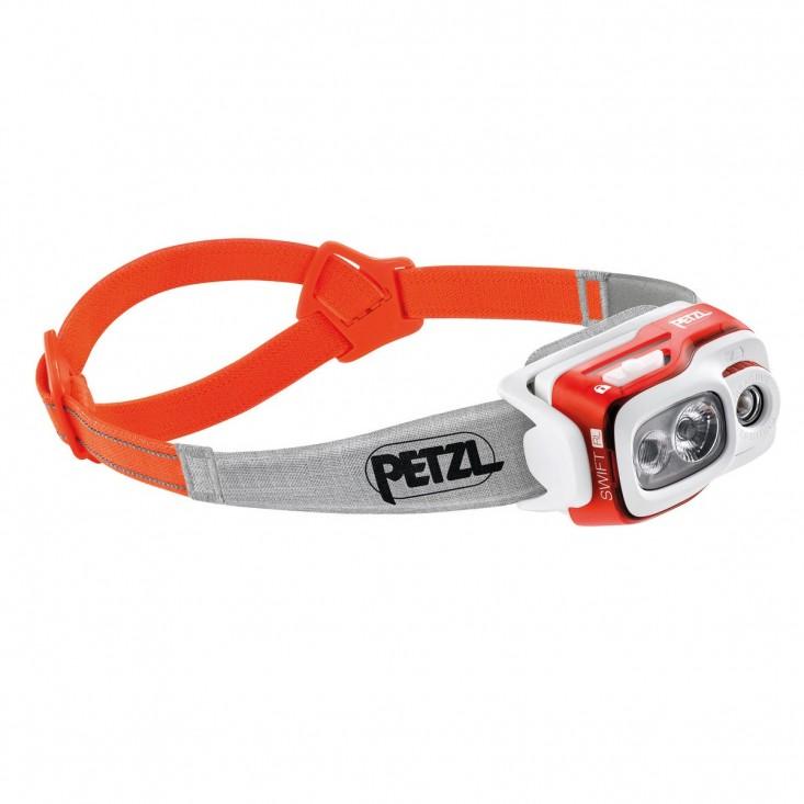 Petzl Swift RL Arancione - Lampada frontale a led 900 lumen | Mancini Store