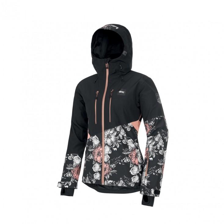 Seen Jkt Giacca Snowboard Donna Peonies Black