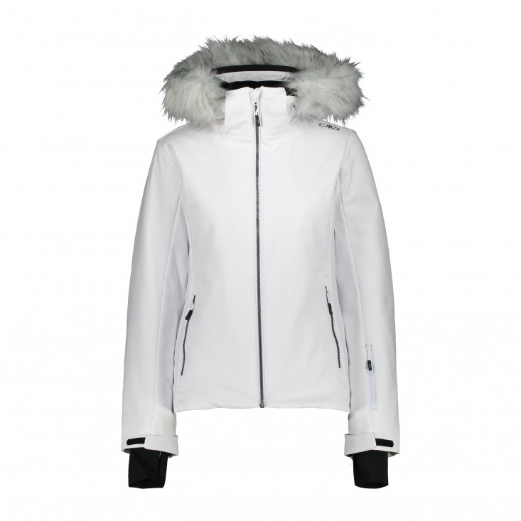 Woman Jkt Zip Hood Giacca Donna White