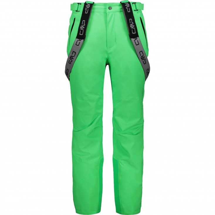 Man Salopette Pantalone Sci Uomo Green