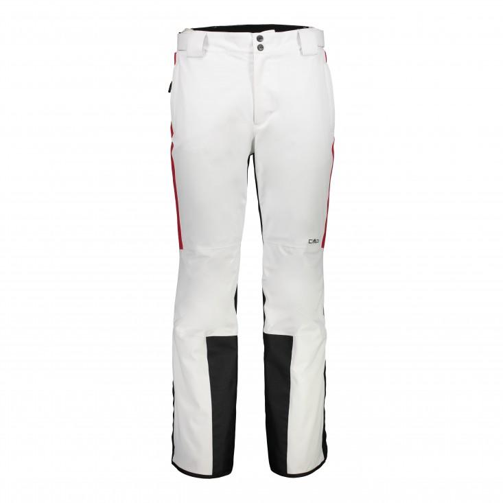 Man Pant Pantalone Sci Uomo White Red