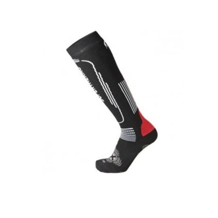 Calza Ski Superthermo Primaloft Unisex Black Red