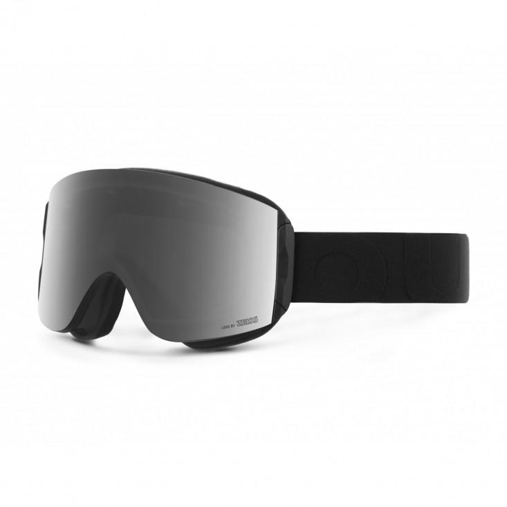 Katana Black Silver Maschera Snowboard + Lente Permission