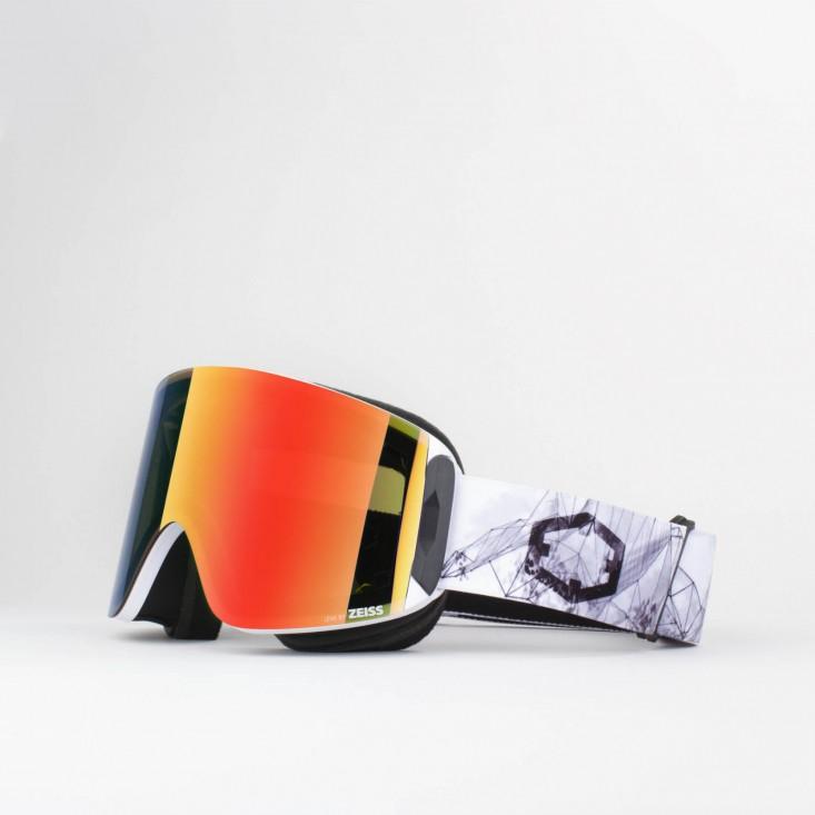 Katana Homespot Red MCI Maschera Snowboard + Lente Permission