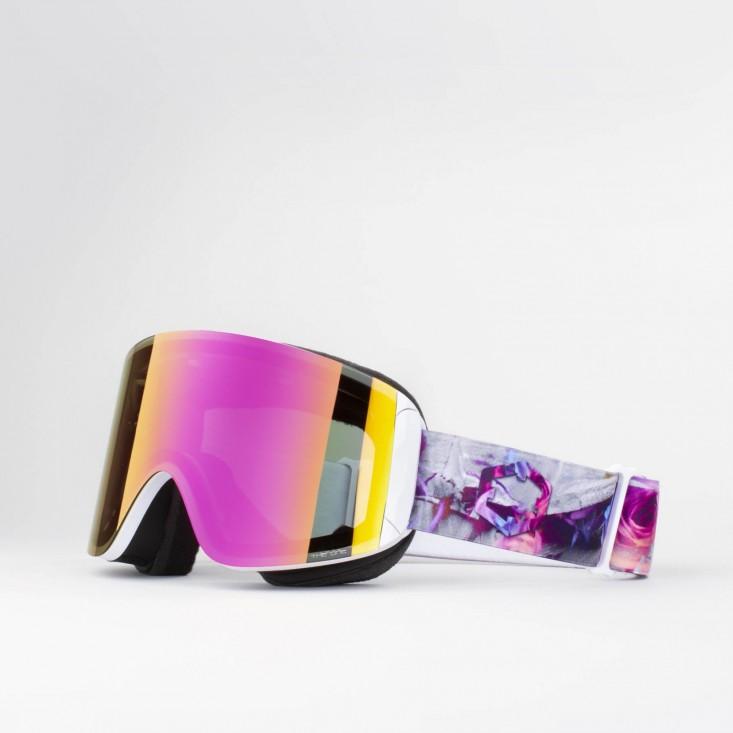 Katana Rock and Roses Violet MCI Maschera Snowboard + Lente Permission