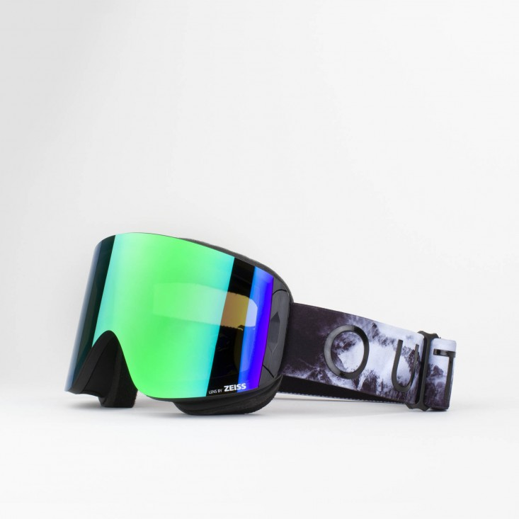 Katana Tempesta Green MCI Maschera Snowboard + Lente Permission