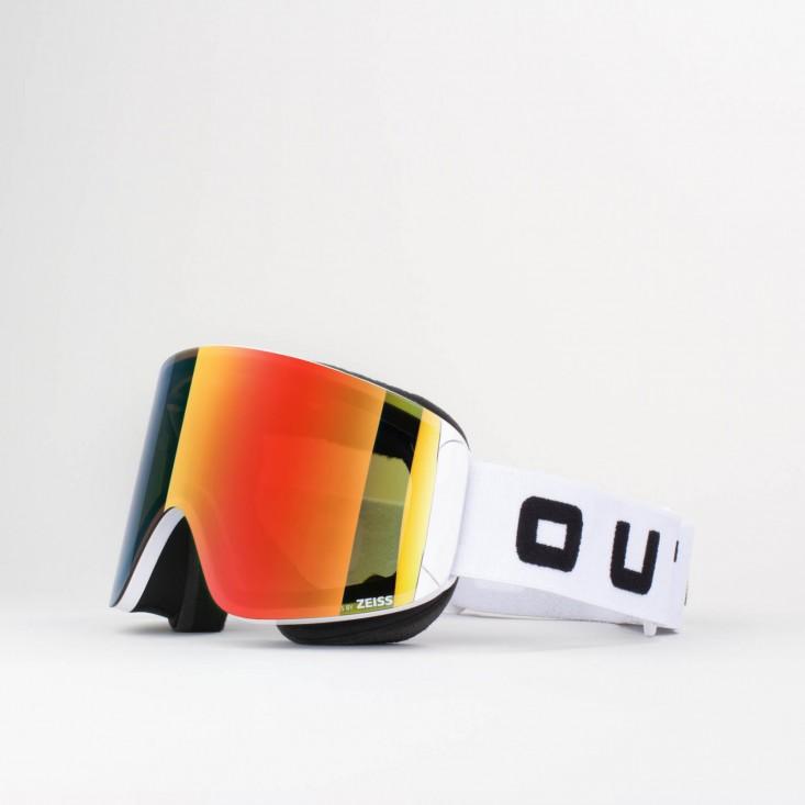 Katana White Red MCI Maschera Snowboard + Lente Permission