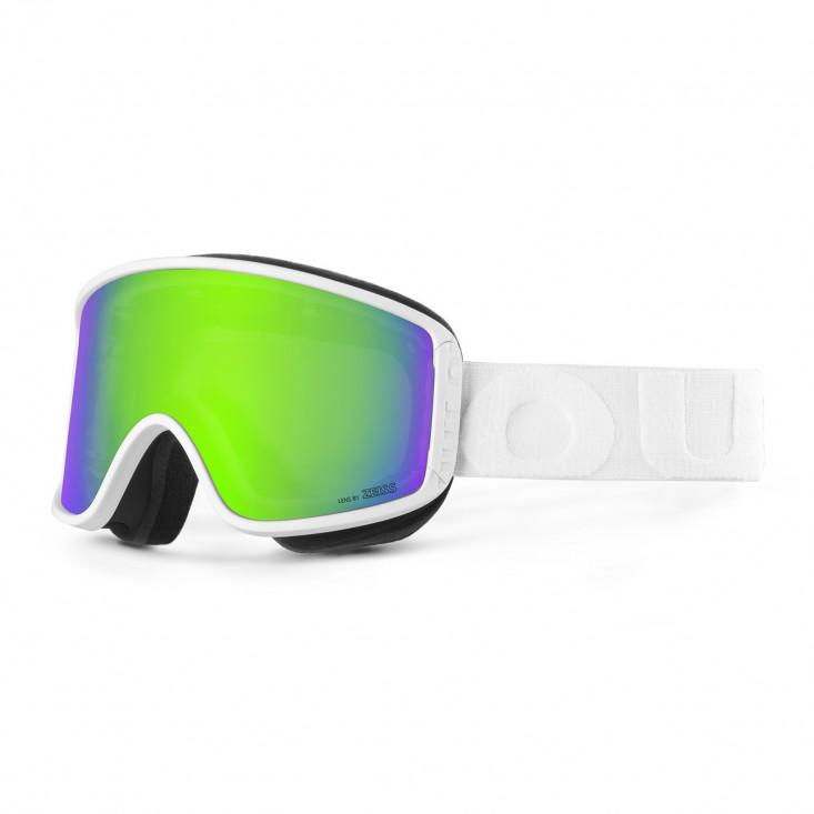 Shift White Green MCI Maschera Snowboard + Lente Permission