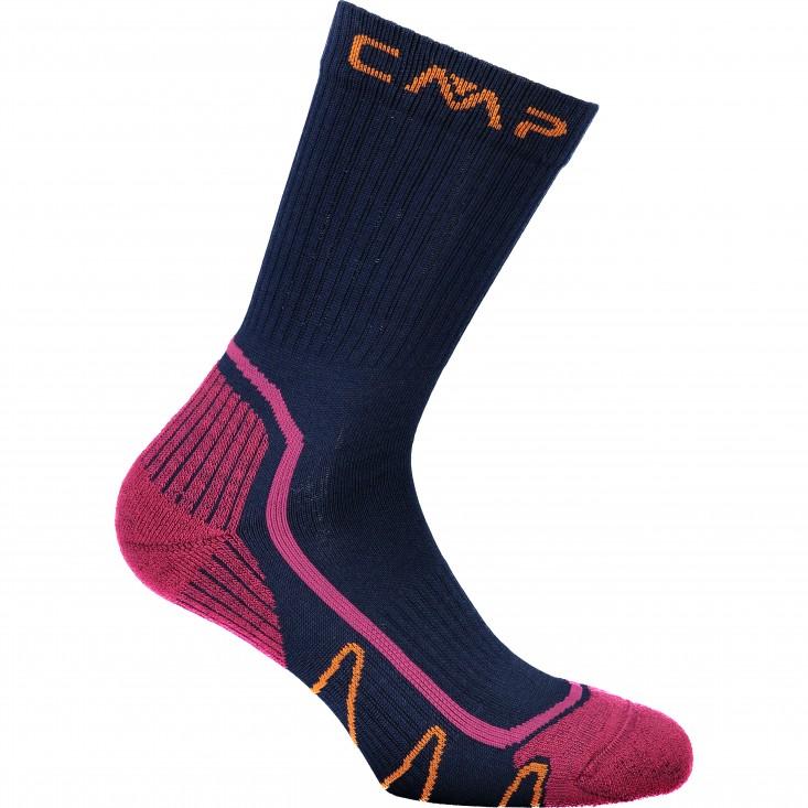 Trekking Sock Poly Medium Calza Fuxia Blue