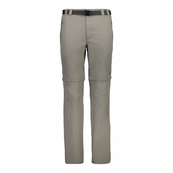Man Zip Off Pant Pantalone Uomo Brown