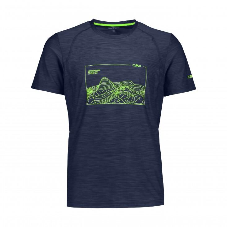 Man T-Shirt Montagna Blue