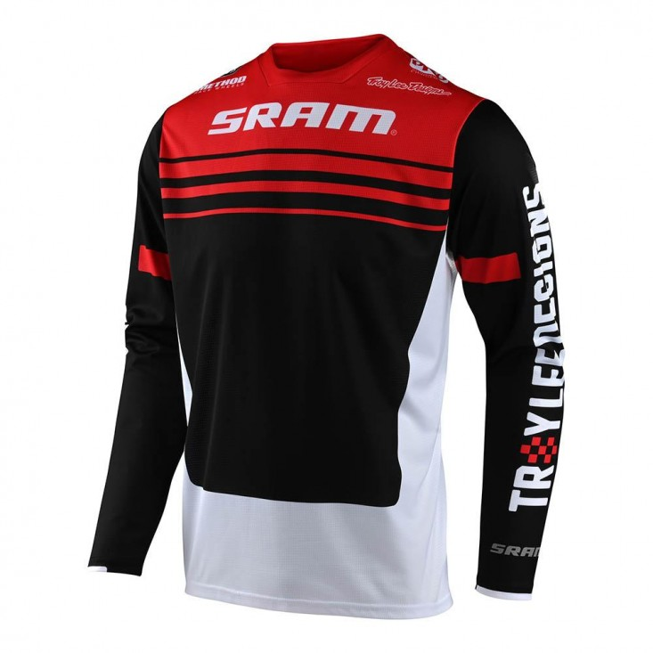 Sprint Jsy Formula Maglia Manica Lunga Bicicletta Sram Red Black