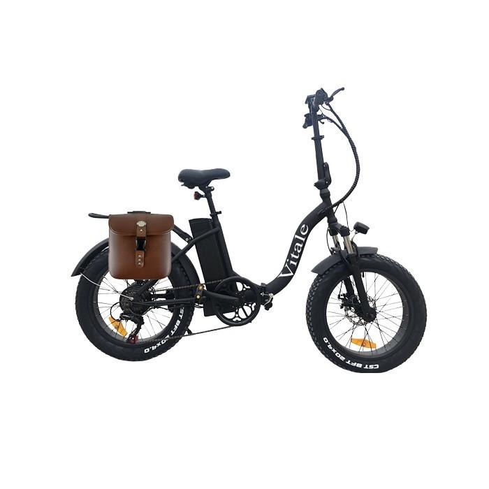 Vitale E-Bike Bicicletta Pieghevole Fat Bike Pedalata Assistita 250W Black