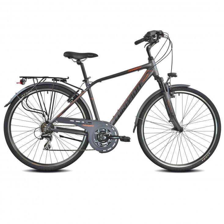 Partner T420 Grigio Orange Uomo Bicicletta Passeggio