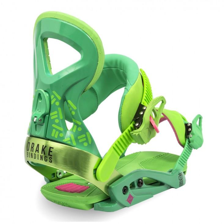 Drake Jade Attacchi snowboard donna verde fluo