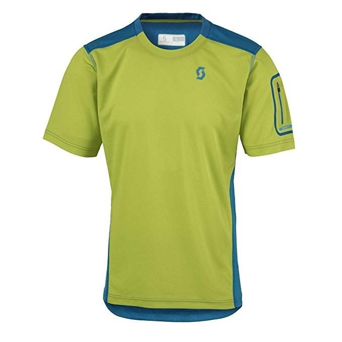 Scott Shirt Trail Mtn Crew - maglia bici manica corta uomo - verde/blu - Mancini Store