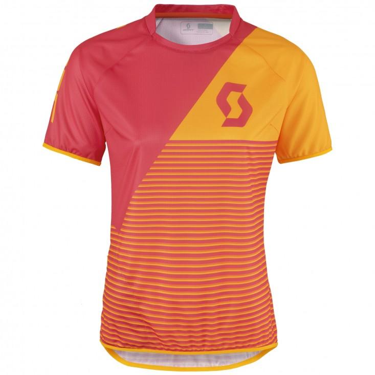 Scott Shirt Ws Progressive Pro - maglia ciclismo donna rosa/arancio | Mancini Store
