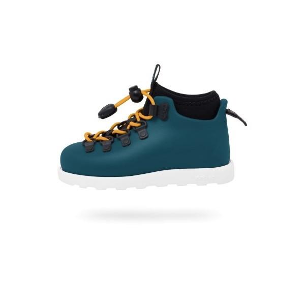 Stivaletto Anti Pioggia Bambino Scarpe Impermeabili Native Shoes Fitzsimmons Blue Bianco su Mancini Store