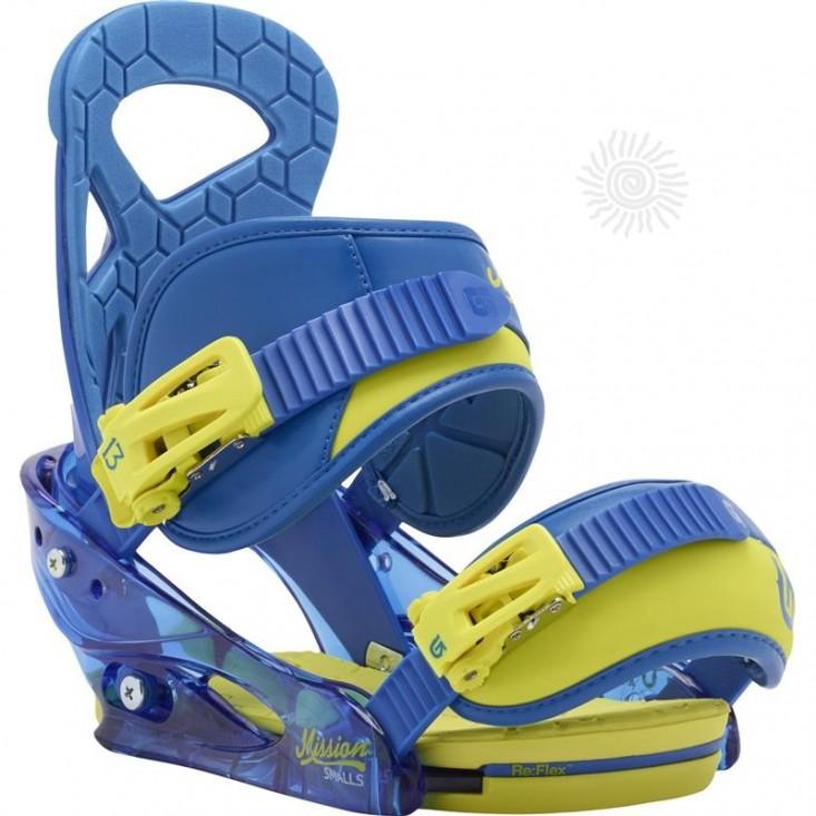 Burton Mission Small - attacchi snowboard bambino - blue | Mancini Store