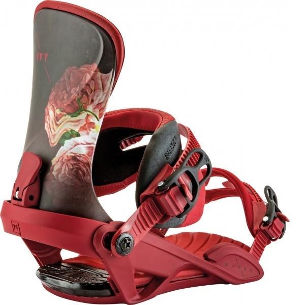 Attacchi Snowboard Donna Nitro Ivy rossi su Mancini Store