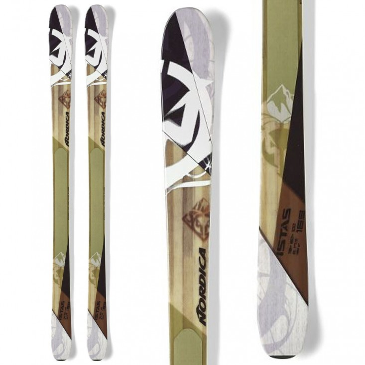 Nordica Istas (Flat) - sci - bianco/verde da Mancini Store