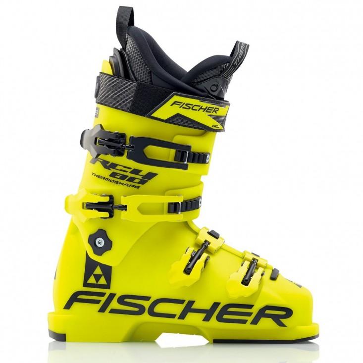 Fischer RC4 80 Thermoshape - scarponi sci bambino - gialli | Mancini Store