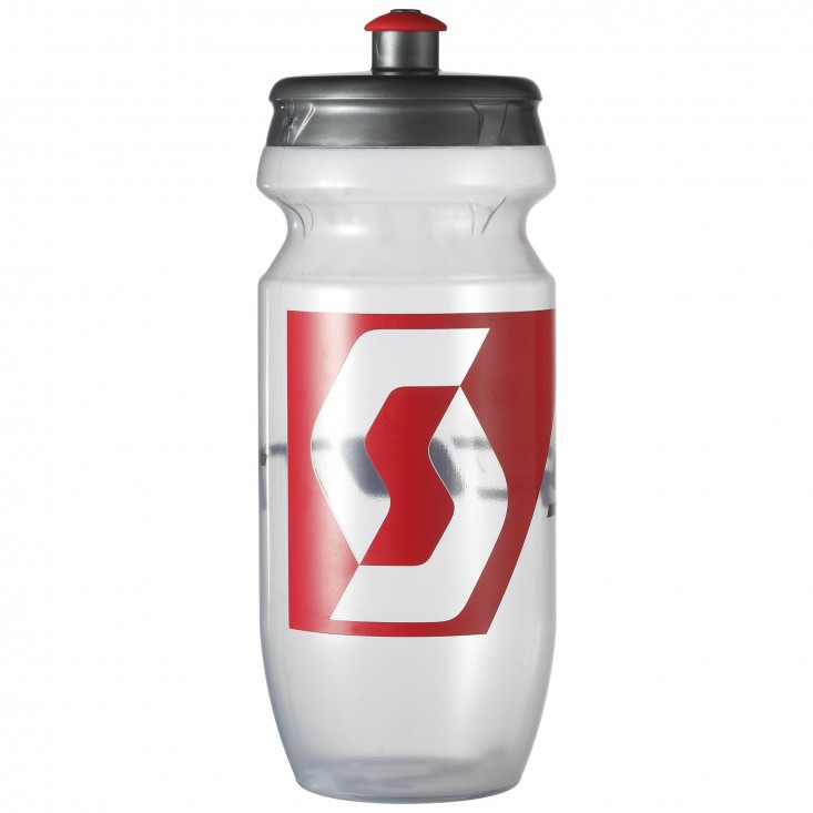 Scott Water Bottle 0.55 Borraccia ciclismo Clear Neon Red su Mancini Store