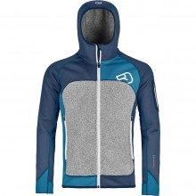 Ortovox Fleece Plus Hoody M Night Blue - secondo strato uomo | Mancini Store
