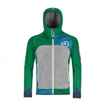 Ortovox Fleece Plus Hoody M Irish Green - secondo strato uomo | Mancini Store