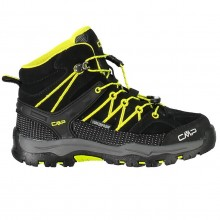Kids Rigel Mid Scarpa Trekking Black Yellow Bambino
