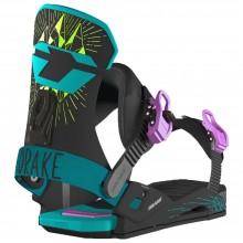 Drake DL - attacchi snowboard donna - neri/verdi | Mancini Store