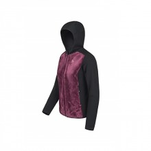 Polar Stretch Hoody Jkt Secondo Strato Donna Black Violet