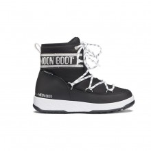 Moon Boot Jr Boy Mid Wp Bambino Black Silver