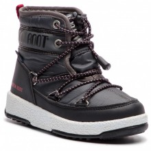 Moon Boot Jr Boy Mid Wp Bambino Black CastelRock