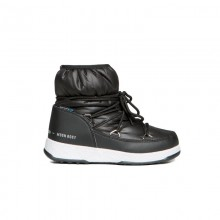 Moon boot Low Nylon Wp Jr neri - doposci bambina | Mancini Store