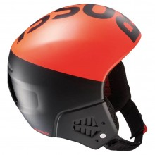 Rossignol Hero Jr FIS Black Orange - casco sci bambino + mentoniera | Mancini Store
