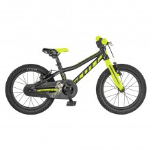 Scott Scale 16 Black Yellow Bicicletta MTB Bambino 2019